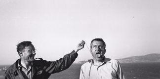 William Burroughs hanging Alan Ansen, Tangier 1961© Allen Ginsberg Estate