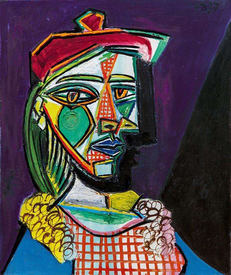 Femme au béret et à la robe quadrillée (Marie-Thérèse Walter) Pablo Picasso
