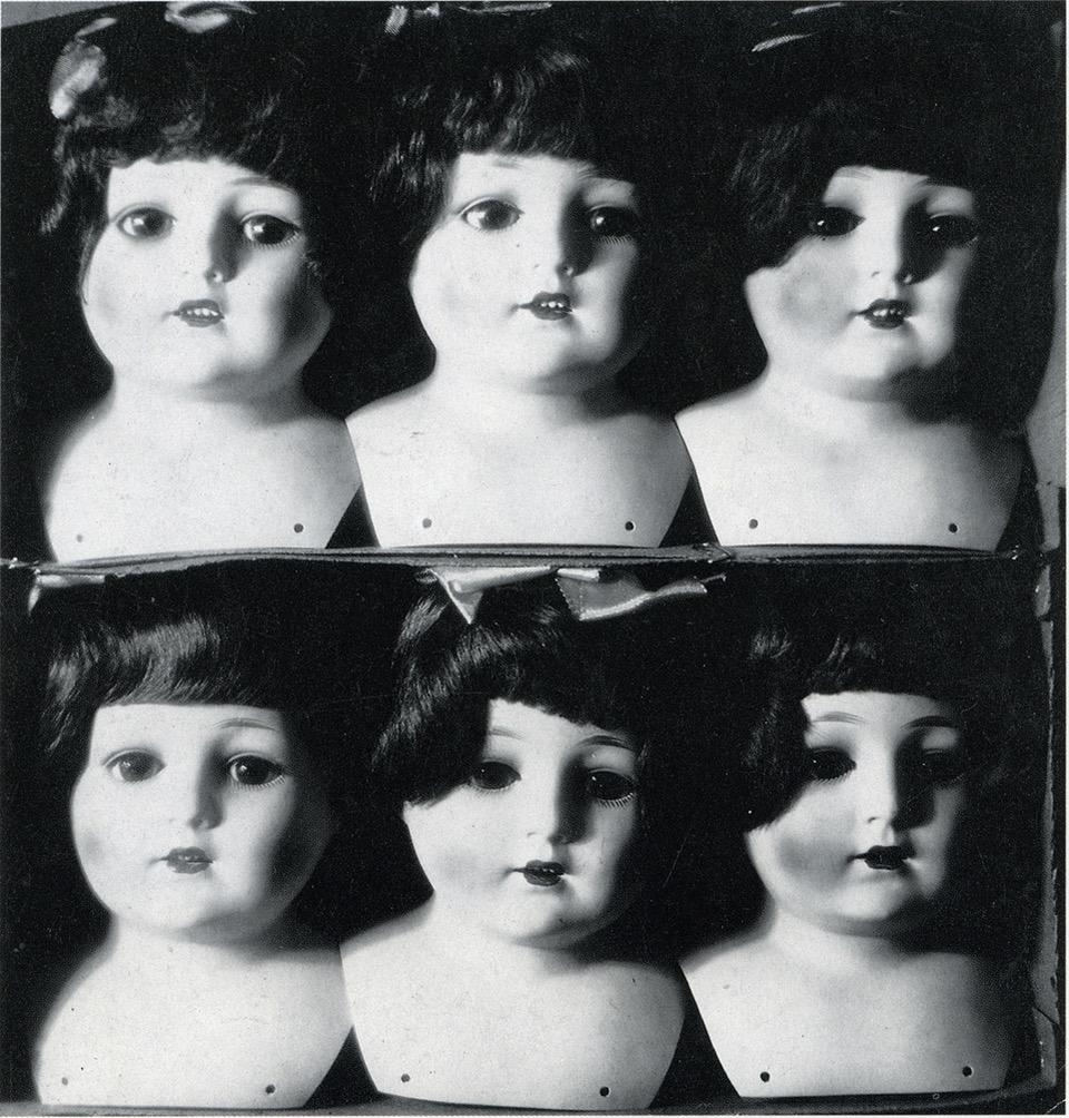 Xanti Schawinsky Sechs Puppenköpfe 1929 foto vintage