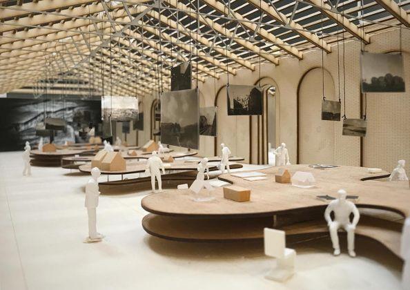 Dettaglio modello, Sala dell'Arcipelago - Staff Mario Cucinella