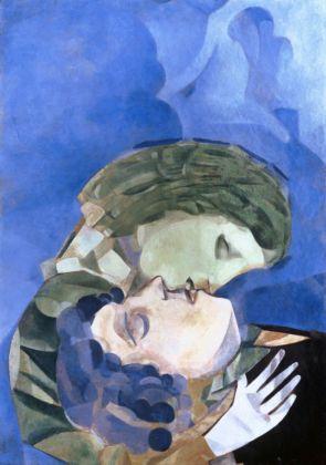 Marc Chagall Les Amoureux, 1916 Öl auf Karton 70 x 50 cm Courtesy Heidi Horten Collection