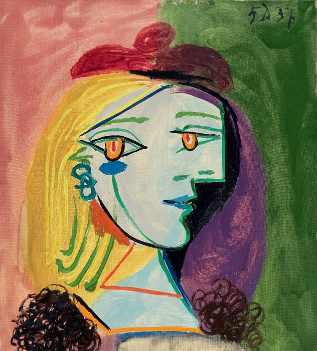 The Girl With a Red Beret And Pompom, Pablo Picasso