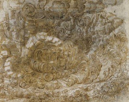 A deluge, c.1517–18, black chalk, pen and ink, wash