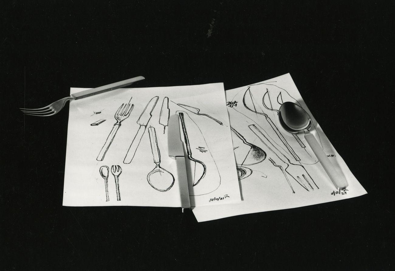 Achille Castiglioni, Posate Dry, 1982. Alessi. Compasso d'oro