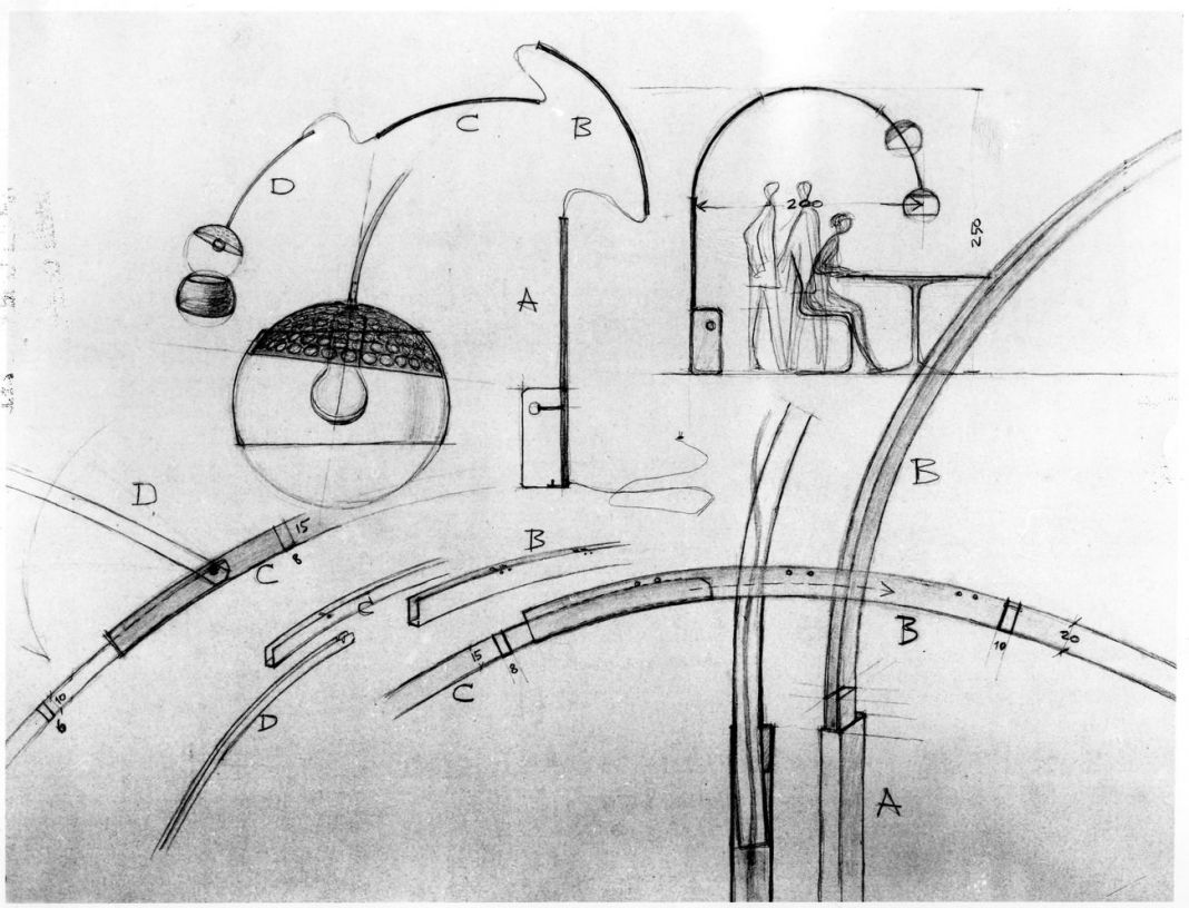 Achille & Pier Giacomo Castiglioni, Arco, 1962. Flos