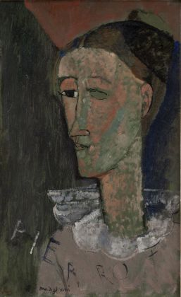 Amedeo Modigliani, Autoritratto come Pierrot, 1915. Statens Museum for Kunst, Copenhagen