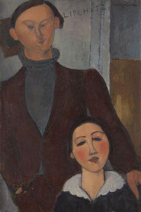 Amedeo Modigliani, Jacques and Berthe Lipchitz, 1916. The Art Institute of Chicago