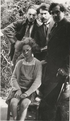 Amedeo Modigliani, Léopold Zborowski, Anders Osterlind e Nanic Osterlind. Haut de Cagnes, 1919. Association Anders Osterlind