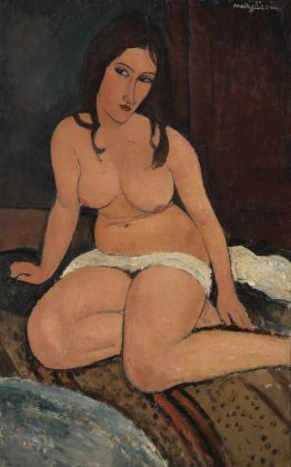 Amedeo Modigliani, Nudo seduto, 1917. Royal Museum of Fine Arts Antwerp, Lukasart in Flanders. Photo credit Hugo Maertens