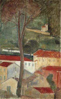 Amedeo Modigliani, Paesaggio a Cagnes, 1919. Collezione privata