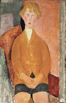 Amedeo Modigliani, Ragazzo in pantaloni corti, 1918 ca. Dallas Museum of Art