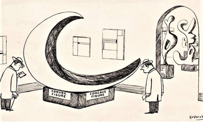 Anatol Kovarsky, Convex Concave Sculpture. New Yorker, 1955