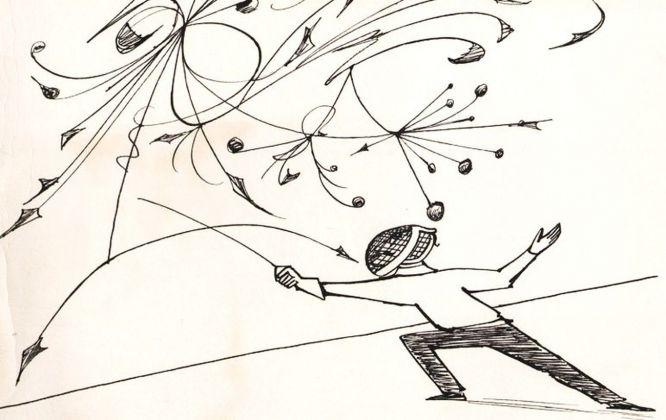 Anatol Kovarsky, Fencer. New Yorker, 1955