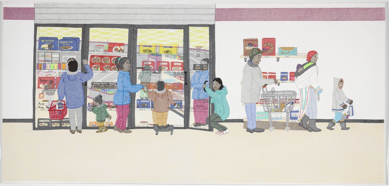 Annie Pootoogook, Cape Dorset Freezer, 2005. Canadian Biennal