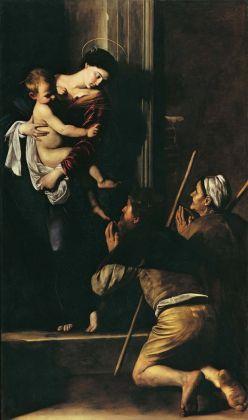 Caravaggio, La Madonna dei Pellegrini, 1604-06. Roma, Basilica di Sant'Agostino in Campo Marzio