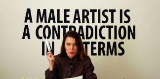 Chiara Fumai, Chiara Fumai reads Valerie Solanas, 2013. Videoinstallazione. Courtesy l'artista
