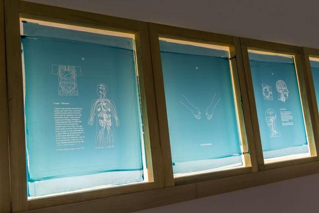 Cosimo Veneziano. Rompi la finestra e ruba i frammenti! Installation view at AlbumArte, Roma 2018