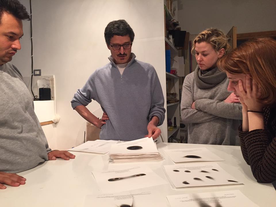 Curatori anno 2016, studio visit con Cesare Pietroiusti, Roma