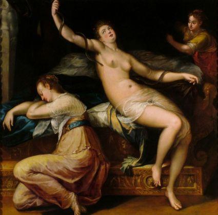 Denys Calvaert, La morte di Cleopatra, 1590 ca. Bologna, Collezioni d'Arte e di Storia della Fondazione Cassa di Risparmio in Bologna