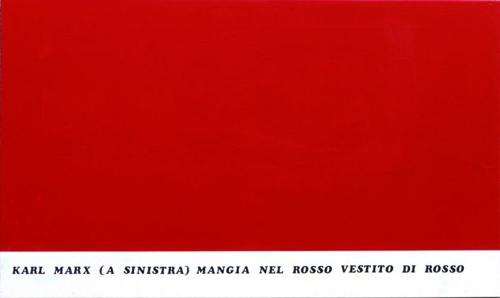 Emilio Isgrò, Dittico Marx - Engels, 1974. Courtesy Archivio Emilio Isgrò