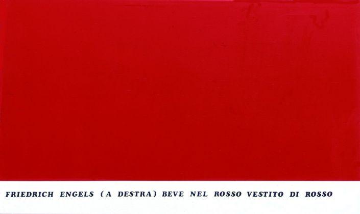 Emilio Isgrò, Dittico Marx Engels, 1974. Courtesy Archivio Emilio Isgrò