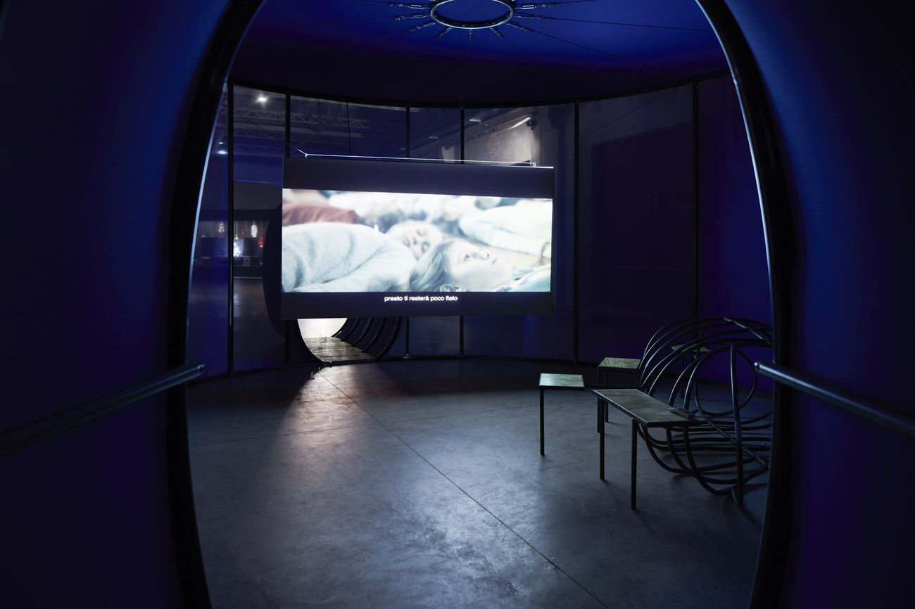 Eva Kot'átková, Stomach of the World, 2017. Installation view at Pirelli HangarBicocca, Milano 2018. Courtesy dell'artista e Pirelli HangarBicocca, Milano. Photo Agostino Osio