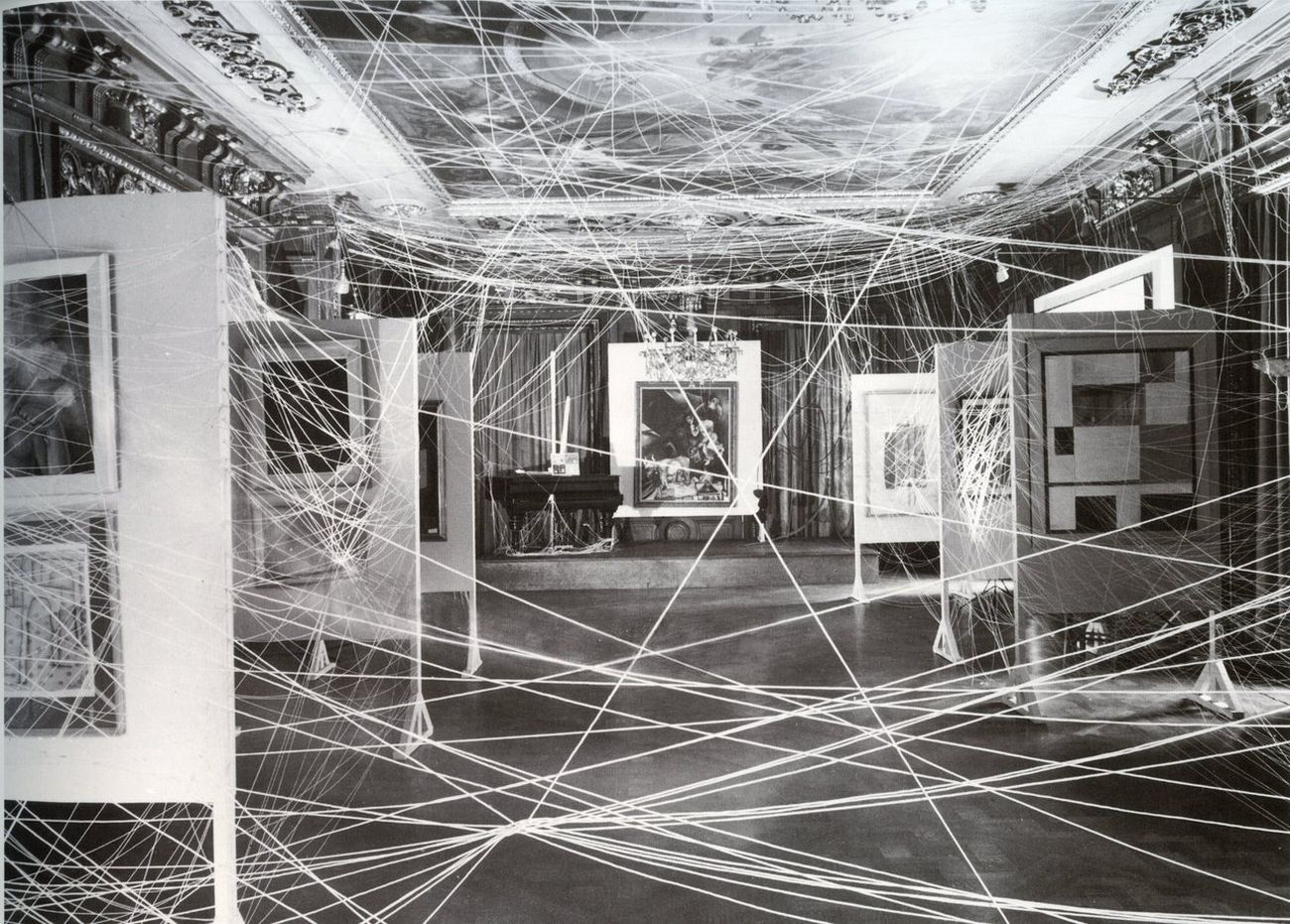 First Papers of Surrealism. Installation view at The Art of This Century Gallery, New York 1942. Marcel Duchamp, His Twine. Photo John D. Schiff