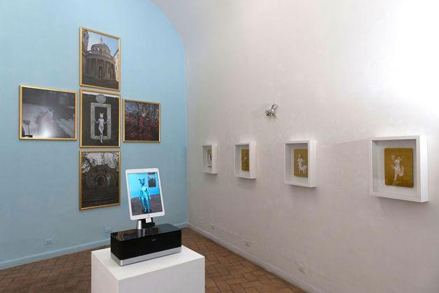 Franco Losvizzero. 11 La Porta Alchemica. Installation view at Pio Monti Arte Contemporanea, Roma 2018. Photo Giorgio Benni