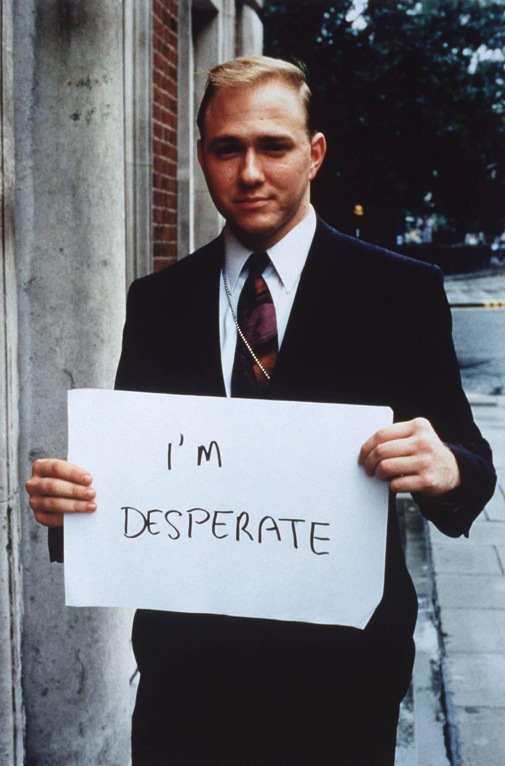 Gillian Wearing , I'm desperate, 1992