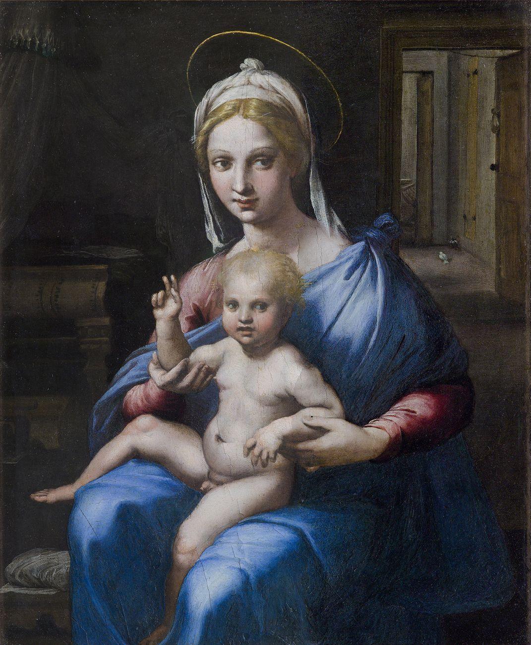 Giulio Romano, Madonna col Bambino (Madonna Hertz), 1515 ca. Roma, Gallerie Nazionali di Arte Antica di Roma, Palazzo Barberini