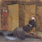 Giuseppe De Nittis, Il paravento giapponese, 1878. Bari, Pinacoteca Provinciale