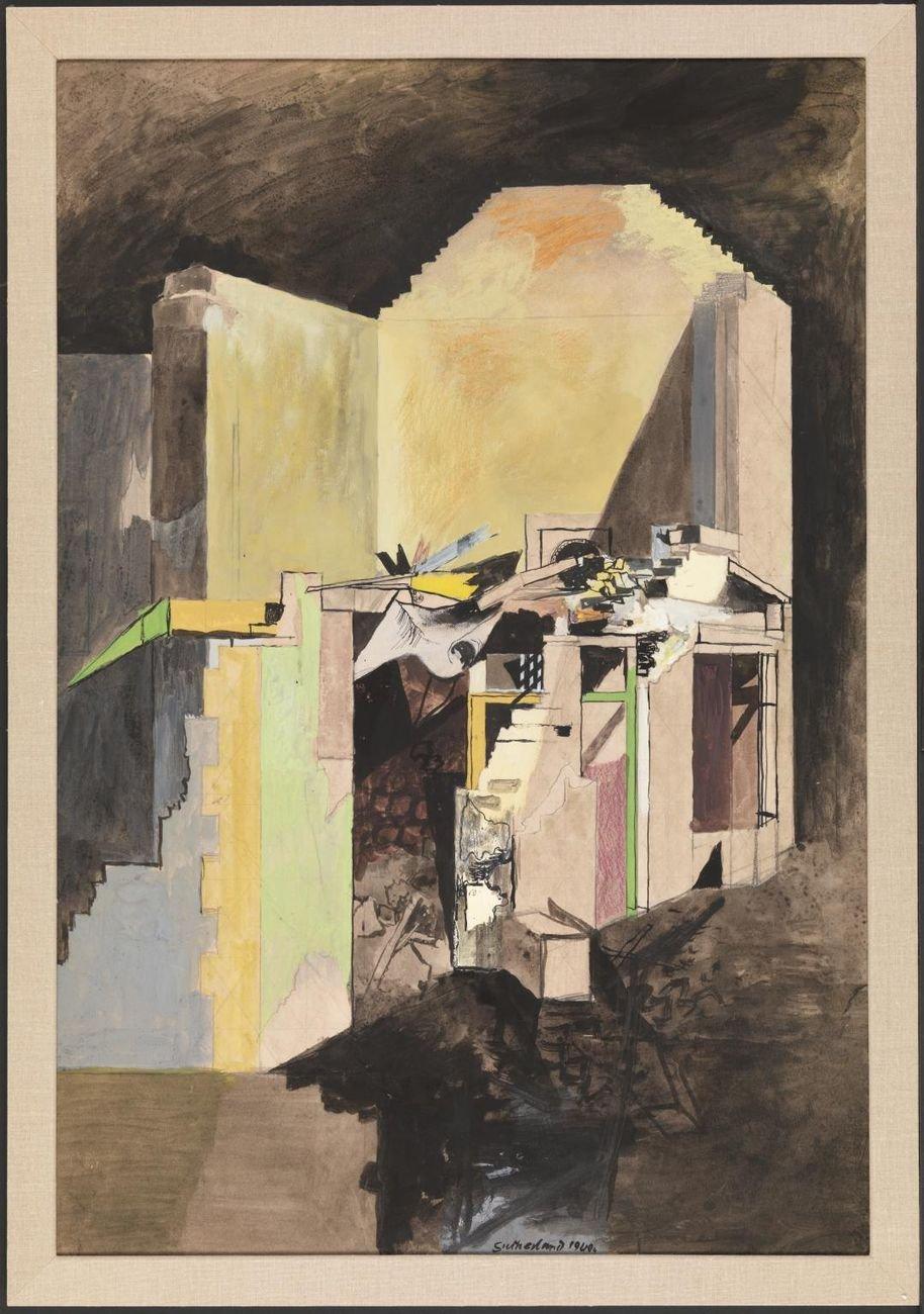 Graham Sutherland, Devastation. A House on the Welsh Border, 1940. Tate