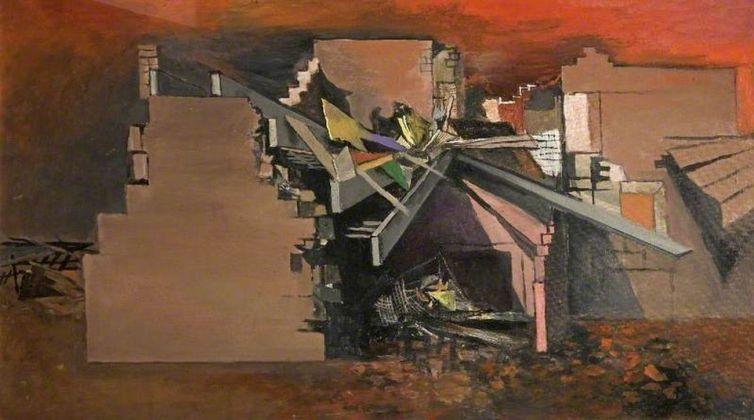Graham Sutherland, Devastation. House in Wales, 1940 ca. Cheltenham Art Gallery & Museum