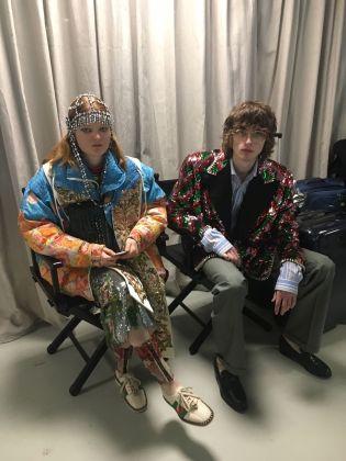 Gucci. Collezione autunno:inverno 2018 2019. Cyborg. Backstage