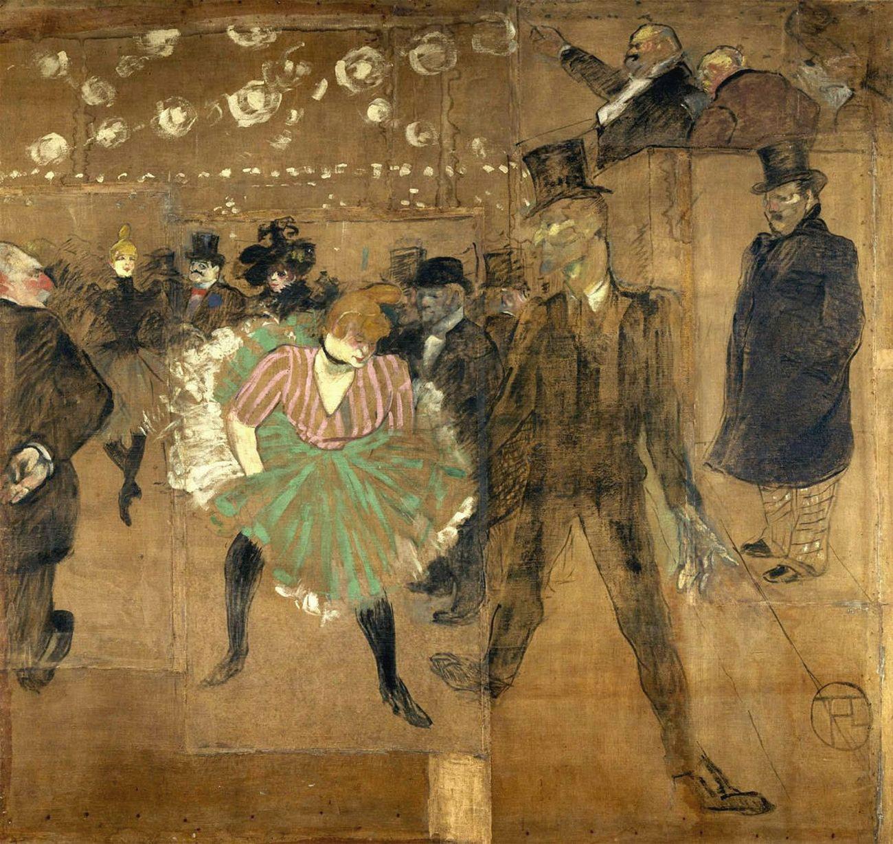 Henri de Toulouse Lautrec, pannello per la baracca della Goulue alla Foire du Trone di Parigi, 1895