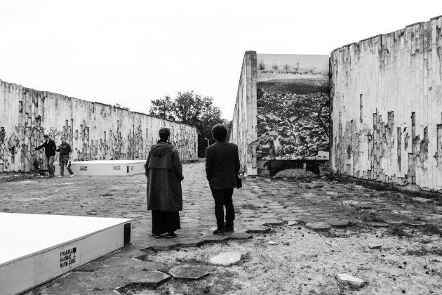 Horst Hoheisel & Andreas Knitz, Recycled Memory, 2017, Kaunas Biennial 2017. Photo credit Remis Ščerbauskas