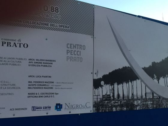 Il cantiere pratese nel quale doveva essere ricollocata la scultura Prato '88 di Mauro Staccioli