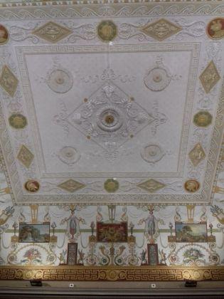Il soffitto affrescato della Biblioteca Nazionale Vittorio Emanuele III di Napoli