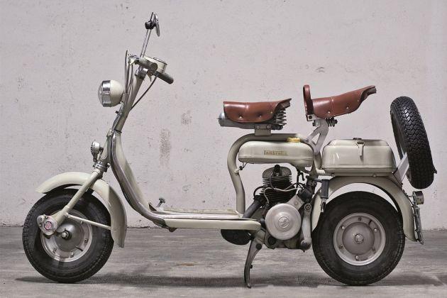 Innocenti Lambretta D 125 cc, 1954. Courtesy Associazione Siciliana Veicoli Storici. Photo G. Mineo