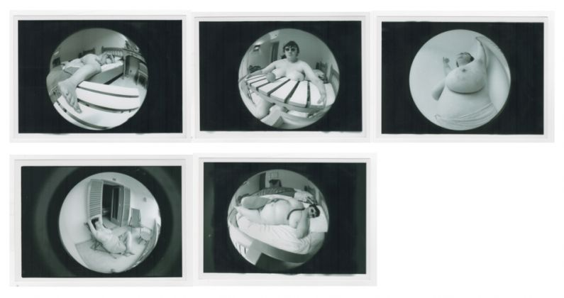 Jo Spence 1934-1992 Fat Project, 1978 -1979 Collaboration with Terry Dennett Set of 5 black and white photographs. Vintage. 12,5 x 17,8 cm each, Copyright the Artist. Courtesy of Richard Saltoun Gallery