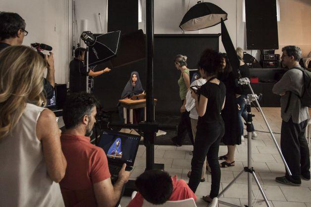 Leonardo Baldini. Divine Creature. Foto del backstage durante la realizzazione delle fotografie per la mostra. Photo © Meini Photo&Video