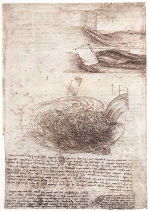 Leonardo da Vinci, vortici dal Codice Leicester, 1507. Bill Gates Collection