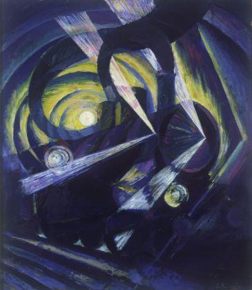 Luigi Russolo, Dinamismo di un treno, 1911 ca., olio su tela