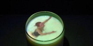 MAGMA. Videoinstallation by Jurga Barilaite. Storm in a glass. 2003. Photo Miriam Wirz