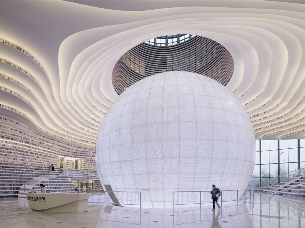 MVRDV, Tianjin Binhai Library, Tianjin, Cina. Photo Ossip van Duivenbode