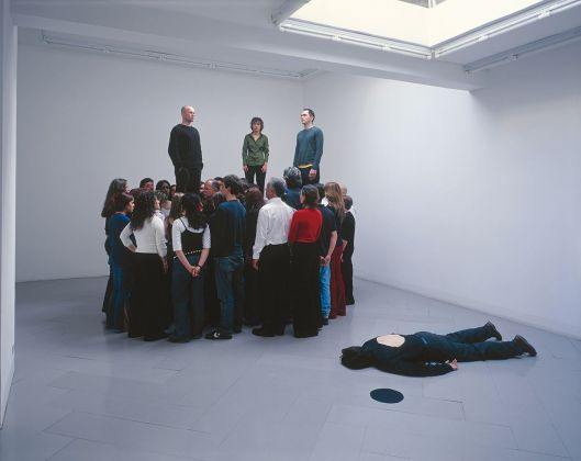 Marcello Maloberti, Untitled, 2003. Performance Galleria S.A.L.E.S., Roma. Courtesy dell'artista e galleria Raffaella Cortese, Milano