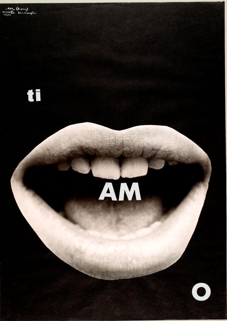 Mirella Bentivoglio, AM (ti amo), 1970. Mart, Rovereto. Archivio Tullia Daenza. © MART – Archivio Fotografico e Mediateca