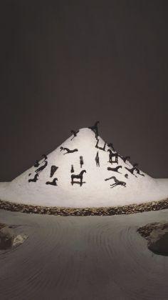 Modello de La montagna di sale di Mimmo Paladino. Photo Francesco Lisciandra
