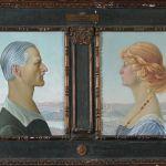 Nicola D'Asnasch, Ritratto di Federico e Irene Perkins, 1922. Assisi, Museo del Tesoro della Basilica di San Francesco