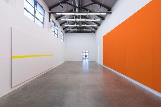 Olivier Mosset. Installation view at Massimo De Carlo, Milano 2018